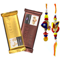 Bhaiya Bhabhi Rakhi Set with Cadburys Chocolates