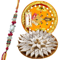 Delicious Kaju Katli from Haldiram and Rakhi Thali along Rakhi