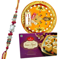 Soan Papri from Haldiram and Rakhi Thali along Rakhi