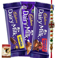 Assorted Cadburys Special Pack with Rakhi
