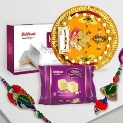 Haldirams Sweet with Rakhi for Bhaiya Bhabhi