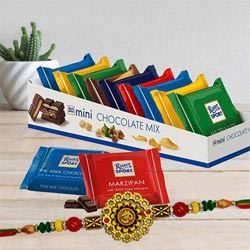Delicious Ritter Sport Chocolates with Om Rakhi