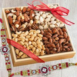Fancy Rakhi Set with Salted Dry Fruits