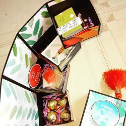 Personalized Tower Box for Loving Bhaiya