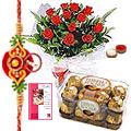 12 Red Roses Bouquet with 16 
