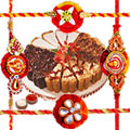 8 Pcs Assorted Pastries from Taj / 5 star Bakery with 1 Rakhi (Only for Major Cities).